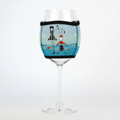 Imagine Ellie Neoprene Wine Glass Cooler Admire