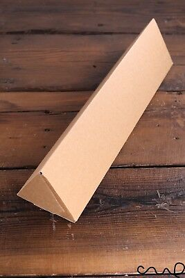 Triangular Postal Tube Brown Box 33x8x8cm Gift Wrapping Retail Packaging Unique