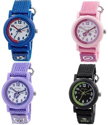 Tikkers Boys/Girls/Children's Time Teacher Watch Comfortable Straps XMAS GIFTS