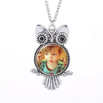 Personalized Photo OWL Pendants Custom Necklace Loved One Gift for Family Member