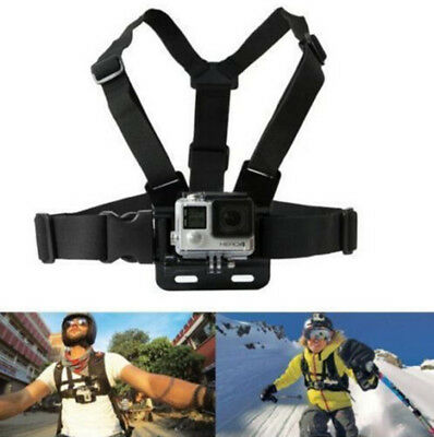 Chest Strap Harness Adjustable Elastic GoPro 1 2 3 3+ 4 Action Camera Mount Kits