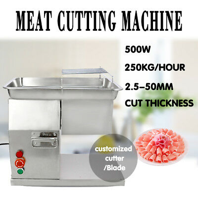 250KG Output Slicer Meat Cutting Machine Cutter with 1 Set of Blade Restaurant
