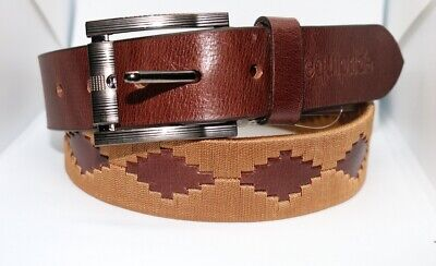 Equipride Argentinian Polo Belt 100/% Top Quality Leather Coral Ivory