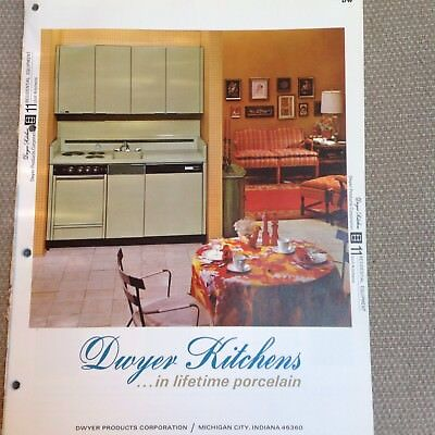 1970 DWYER Compact KITCHEN Units Porcelain Steel Residential Vintage Catalog