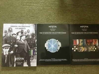 Spink Orders, Decorations & Medals + Numismatic Collectors Series 3 Catalogs