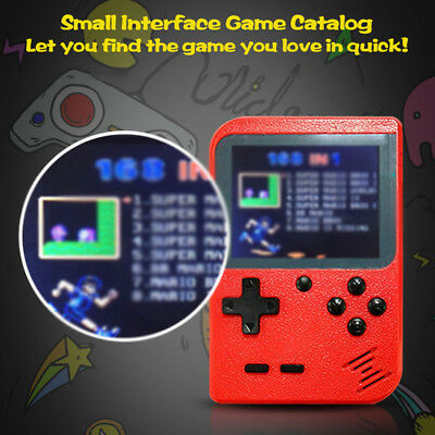 "Handheld Game Console 3"" Retro FC TV Game 168 Games Portable Game Players P2V1Y"