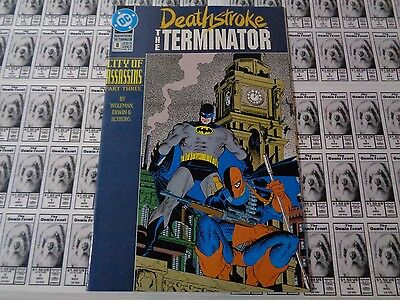 Deathstroke the Terminator (1991) DC - #8, City of Assassins Part 3, Wolfman,VF-