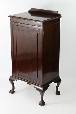 Tall Antique Edwardian Mahogany Cabinet - Hall Unit Shoe Cupboard Music Chest