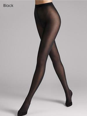 Wolford Velvet De Luxe 50 Tights, Luxury Soft Opaque Black Tights - Size XL