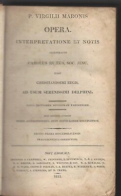 Works Of Virgil With Interpretation & Notes,latin Text,1811,new York,poetry,hc
