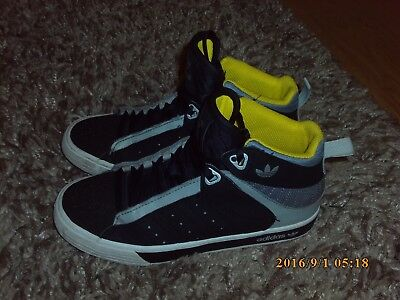 the best attitude 225b5 73493 Adidas Originals Neo Label Black   Silver Grey high top boys trainers size 3