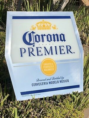 """New"" Corona Premier Extra Light Cerveza Beer Bar Mirror Sign Man Cave Pub"
