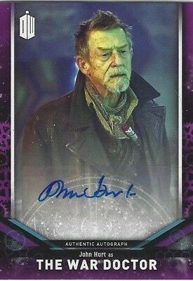 JOHN HURT as THE WAR DOCTOR- DOCTOR WHO 2018 SIGNATURE SERIES AUTOGRAPH CARD