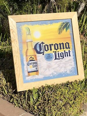 """New"" Corona Light Extra Modelo Cerveza Beer Bar Mirror Sign Man Cave Pub"
