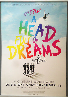 Cinema Poster: COLDPLAY A HEAD FULL OF DREAMS 2018 (One Sheet) Chris Martin