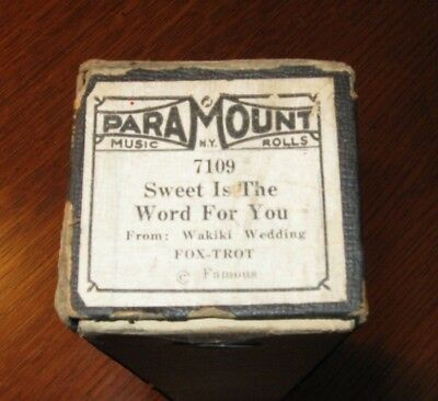 Sweet Is The Word For You (Very Pretty Tune!) Original Piano Roll 1218