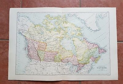 Early 20th Century Map Of CANADA by J BARTHOLOMEW