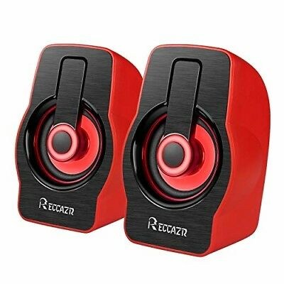 Computer Speakers with Stereo Sound, RECCAZR LED Colorful Desktop Speakers,63 in