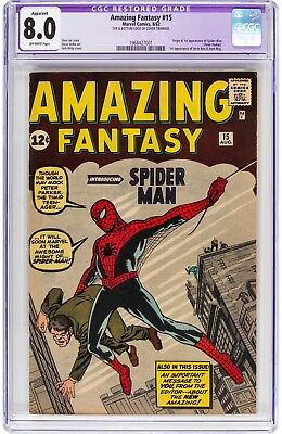 Amazing Fantasy #15 (Marvel, 1962) CGC VF Trimmed 1st Appearance of Spider-Man!!