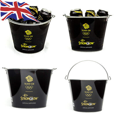 Strongbow Black Metal Ice Bucket Party Drinks Holder Chiller Cooler Home Bar...