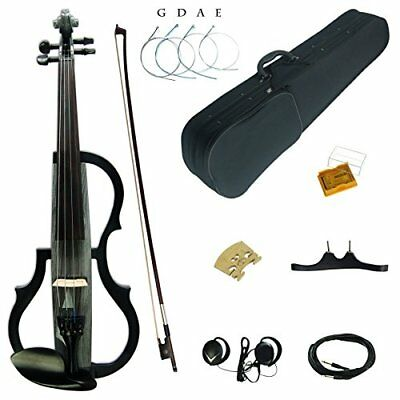 Kinglos 4/4 Full size solid wood colored 3 band EQ electric violin kit (SDDS 160