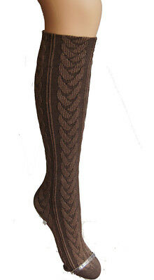 "Trasparenze Cola Cotton ""Slovenia"" Cable Patterned Knee Socks"