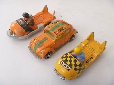 Vintage Diecast Corgi Toys Juniors Whizzwheels James Bond 007 Ohmss Set
