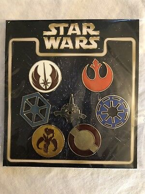 Star Wars Emblems Disney Authentic Trading Pin Set - 7 Pins ***FREE SHIPPING***
