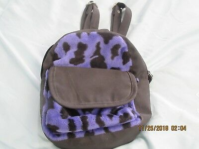GIRL'S MINI BACKPACK, BLACK/PURPLE, NEW NWOT, 8x8