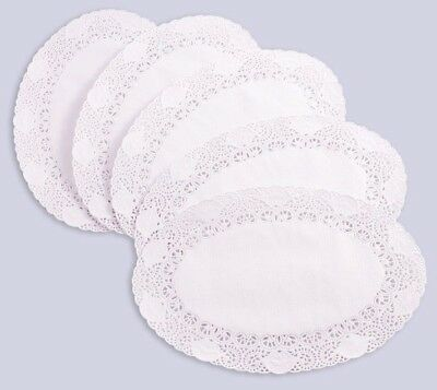 250 x White Oval Paper Doyley Doylies Doilies Tray Paper Choose from 3 Sizes
