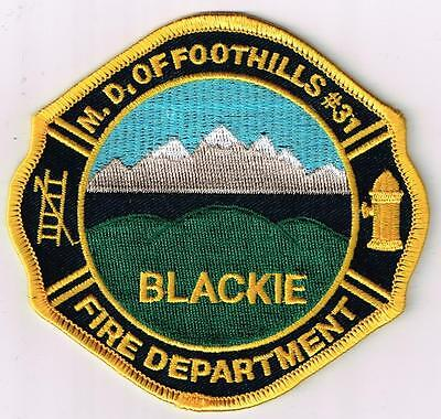 Blackie, Municipal Dist. of Foothills #31 Fire Department, Alberta, Canada patch