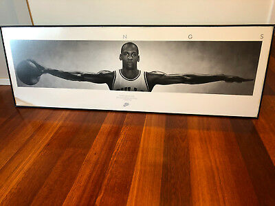 Michael Jordan famous NIKE WINGS Framed Picture. No Glass.