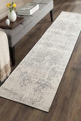 Hallway Runner Hall Runner Rug Modern Grey 4 Metres Long Premium Edith 253