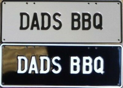DADS BBQ Novelty Number Plate