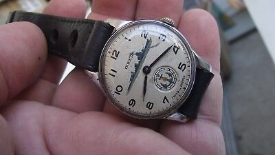 Vintage POBEDA VICTORY WATCH- painted dial -15 jew. RUSSIAN Men's ZIM 2602 USSR