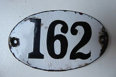 """Antique French Enamel House Number """" 162 """""""