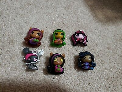 Monster High Mini Doll Lot of 6 VERY NICE CONDITION Figures