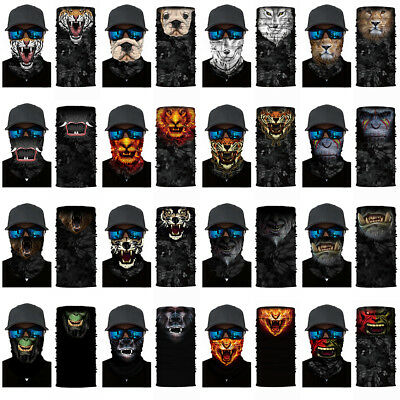 1aece6d26dd 3D Animal Print Cycling Motorcycle Head Scarf Neck Warmer Face Mask Ski  Headband