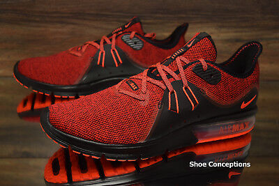 buy popular 219b0 f25c3 Nike Air Max Sequent 3 Running Shoes Red Black 921694-066 Men s - Multi Size