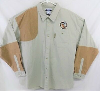 d947983dc60 Columbia Men's Shoulder Patch Shooting Hunting Button Long Sleeve Shirt XXL  2XL