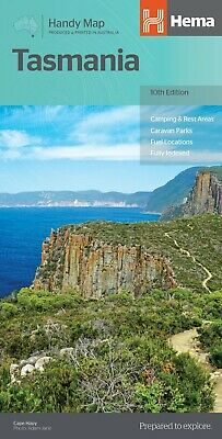 Hema Maps - Tasmania - Handy Map - 10Th Edition - Camping Rest Areas Parks Fuel