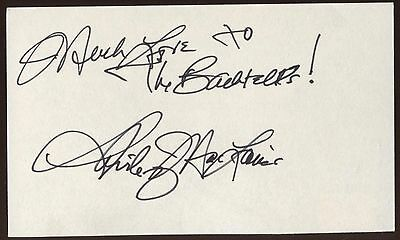 Red Buttons Actor Comedian 1976 Shirley Maclaine Autographed Signed Index Card Cards & Papers Autographs-original