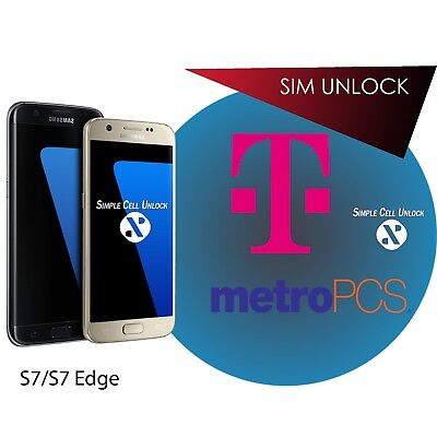 Galaxy S7 S7 edge T-Mobile/MetroPCS Sim Unlock INSTANT Android OS 8.0!!!