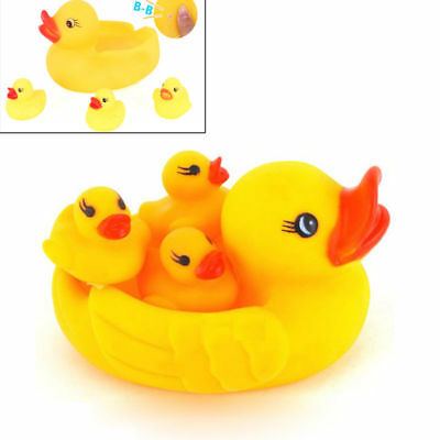 4pcs/set Baby Shower Rubber Squeaky Ducks Play Water Bathing Pool Tub Toys  wow