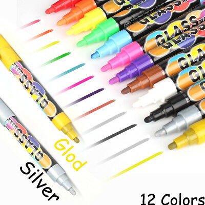 6mm Reversible Tip Chalkboard Paint Markers Bright Mulitcolored Erasable Ink