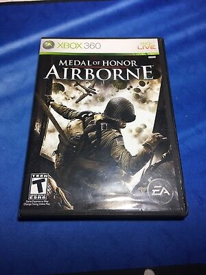 Medal of honor: airborne (microsoft xbox 360) with case and manual.