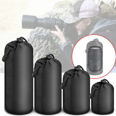 Safe Neoprene Camera Lens Pouch Soft Bag Case Protector f. Canon Nikon Sony DSLR