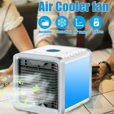 Portable Mini Air Conditioner Cooler Humidifier Cooling Fan Bedroom Home Car AU