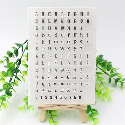 Craft Clear Transparent Scrapbooking Alphabet Number Card Making Silicone Stamp