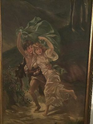 Pierre Auguste Cot The Storm BEAUTIFUL AND VERY LARGE MUSEUM QUALITY PAINTING!